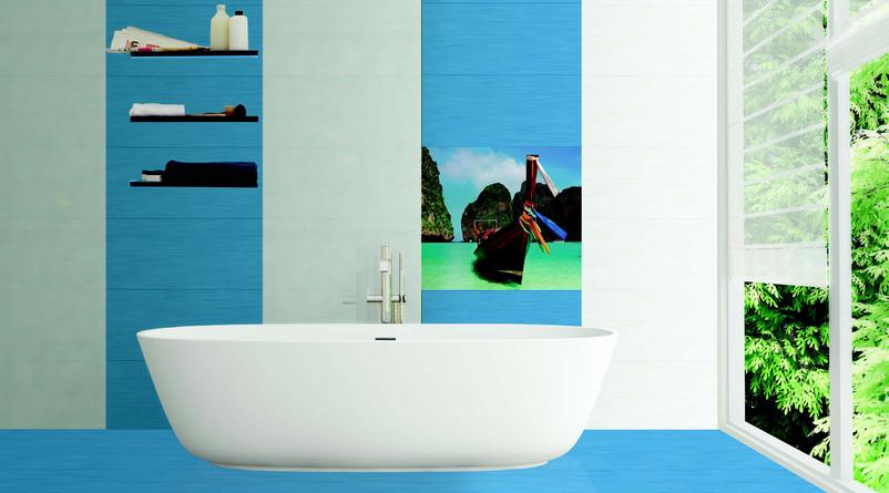 плитка в ванную с лодкой
